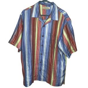 Tommy Bahama Silk Linen Embroidered Shirt